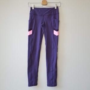 Ivivva Girls Pink Purple Leggings Pocket Lululemon